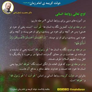چکیده پادکست دولت کریمه ی امام زمان شماره 11